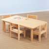 Beech Veneer Rectangular Classroom Tables  small