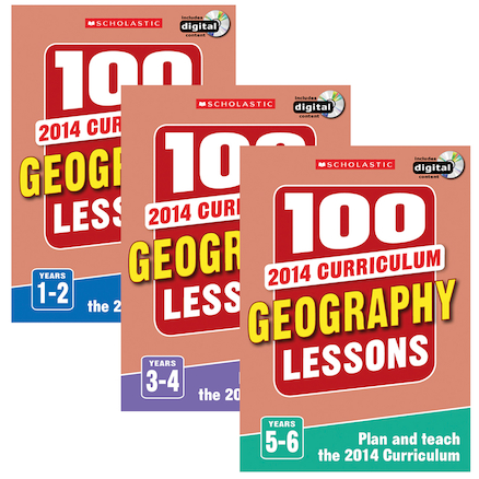 100 New Curriculum Geography Lessons Books  large