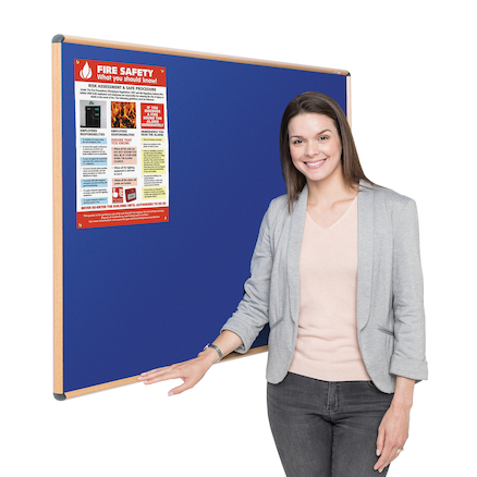 Wood Effect Noticeboard  large