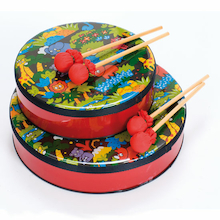 Jungle Hand Drums and Beaters  medium