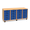 Mobile Storage Unit With 24 Shallow Trays 4x6  small