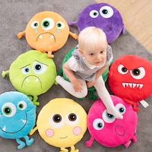 Monster Emotions Cushions 8pk  medium
