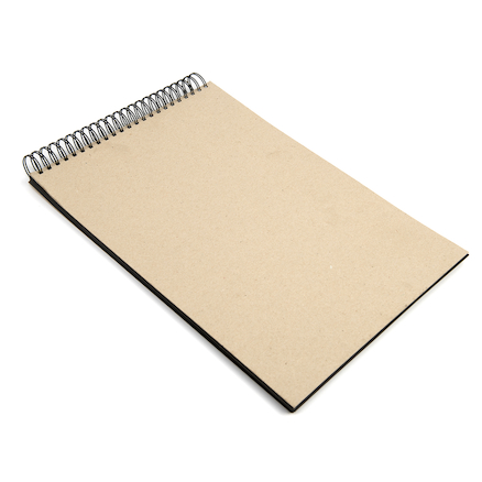 220gsm Jumbo Spiral Black Card Sketchbook A3  large