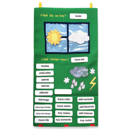 Spanish Weather Vocabulary Wall Hanging  large