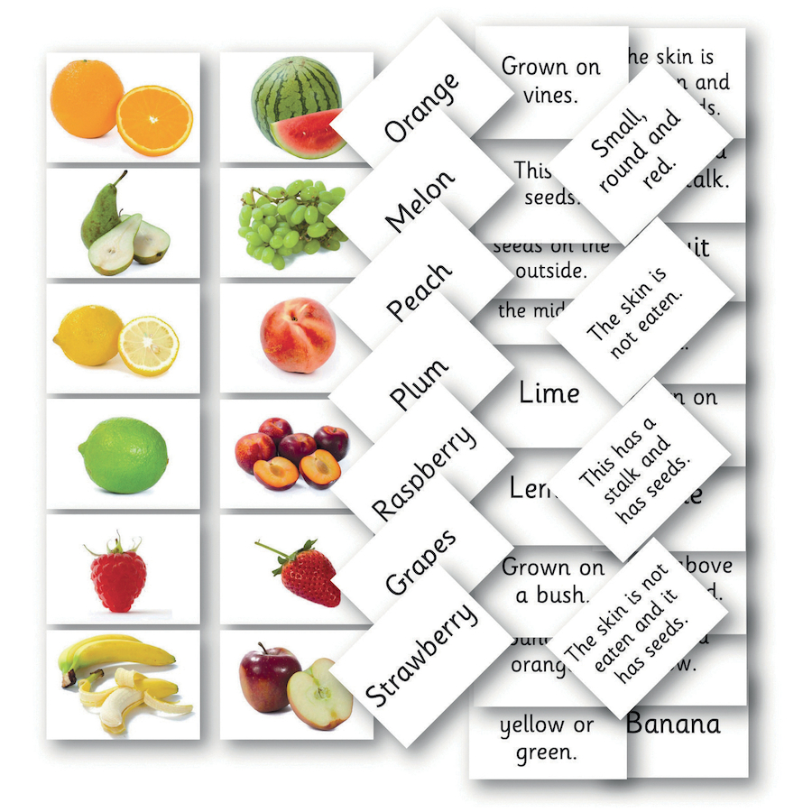 Buy Matching Fruit And Vegetable Cards 144pk Tts