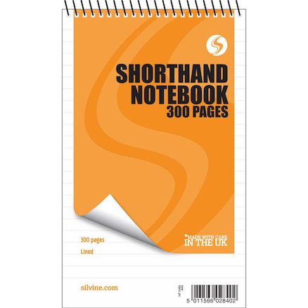Lined Wirebound Shorthand Notebook  large