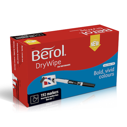 Berol® Dry Wipe Pen Black 192pk  large