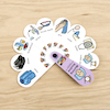Home and Away Mixed Routine Petal Fans 8pk  small
