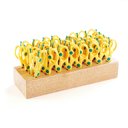 Springy Scissors and Storage Block 32pk  large