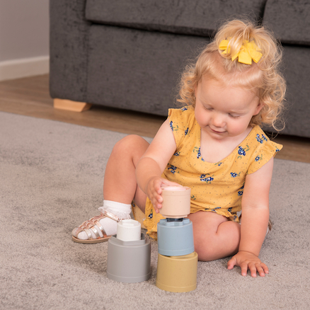 Bio Plastic Baby Stacking Cups  large