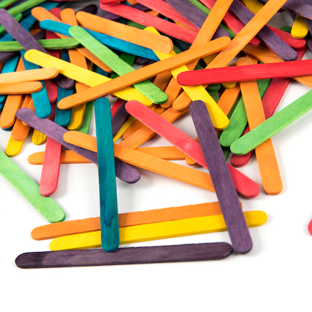 Coloured Craft Lolly Sticks  large