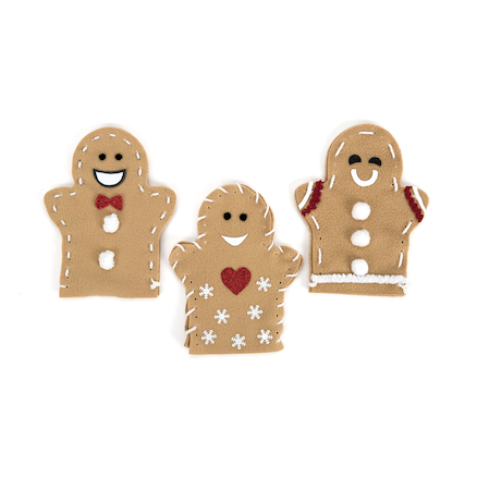 Gingerbread Men Puppets 30pk  large