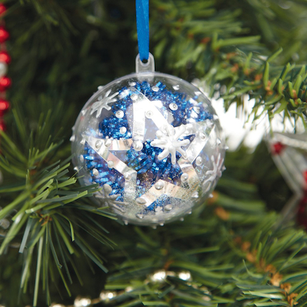 Clear Fillable Christmas Gift Ornaments 12pk  large