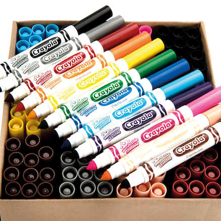 Crayola Broadline Washable Felt Tipped Pens 144pk  large