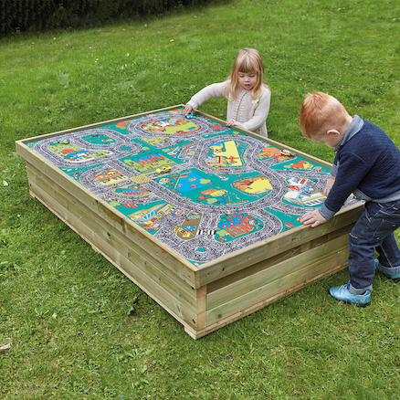 Small World Wooden Sandbox  large