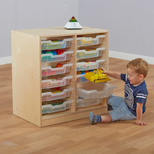 Essentials Indoor Wooden Storage Unit  medium