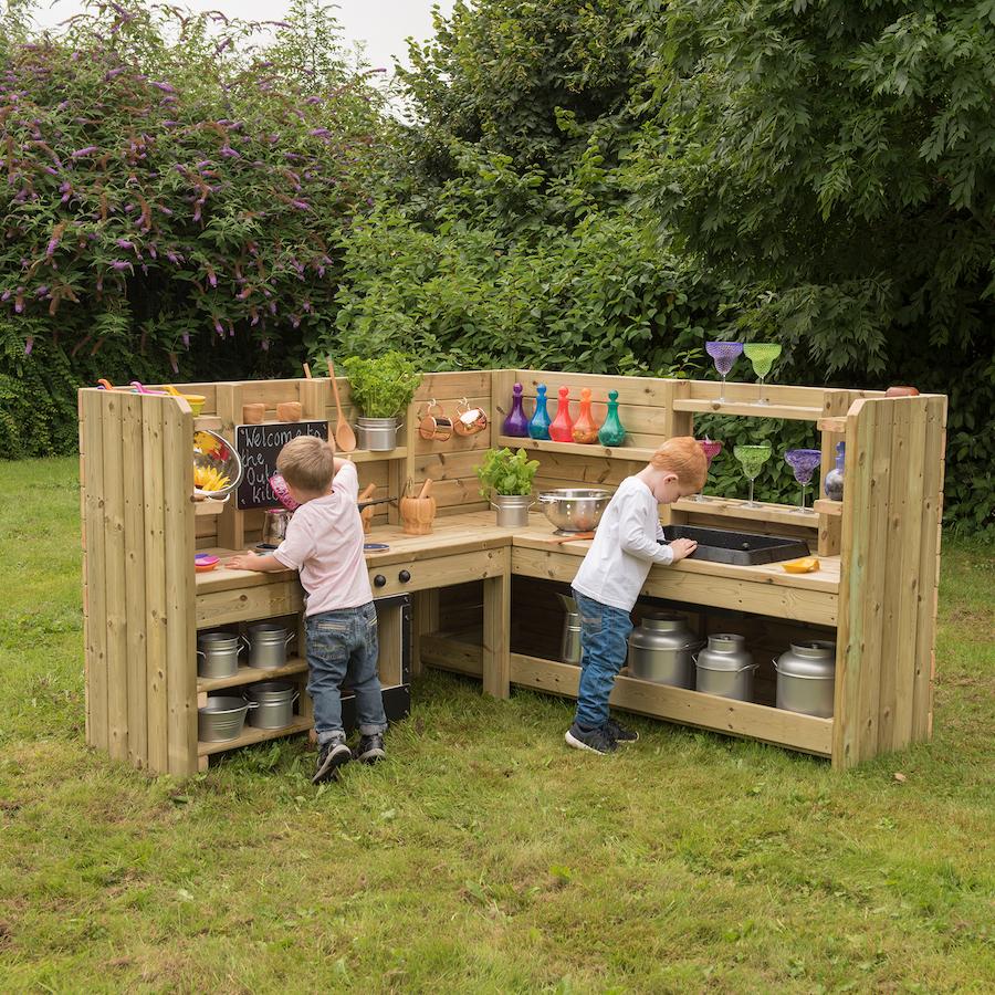 Buy Outdoor Wooden Corner Kitchen Unit