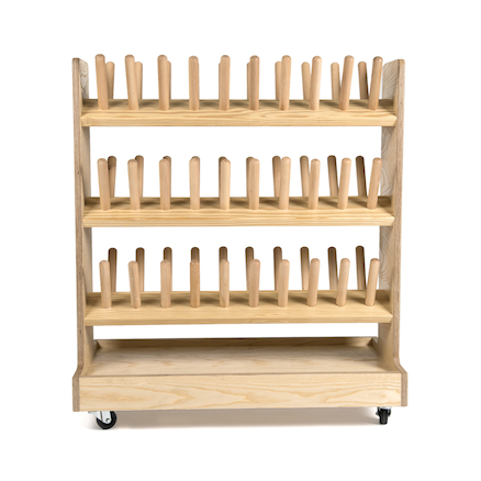Outdoor Wooden Wellie Rack  large