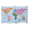 Giant Fabric World Map with 196 Motifs  small