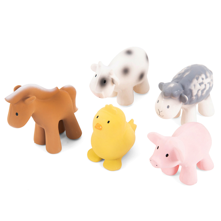 Pure Natural Rubber Small World Farm Animals  large