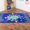Multicultural Welcome Floor Mat L200 x W130cm  small