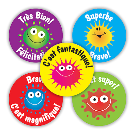 French Blobs Stickers (Pk 125)  large