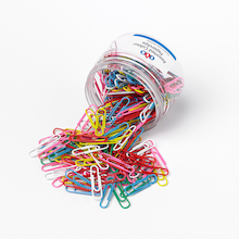 Coloured Paperclips - 6 Tub Set  medium