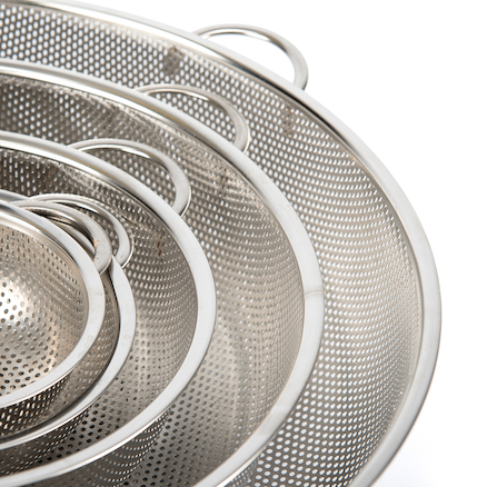 Metal Nesting Colander Collection 5pcs  large