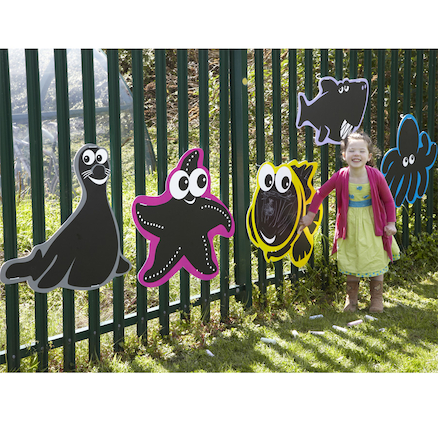Outdoor Mark Making Chalkboards 5pk  large