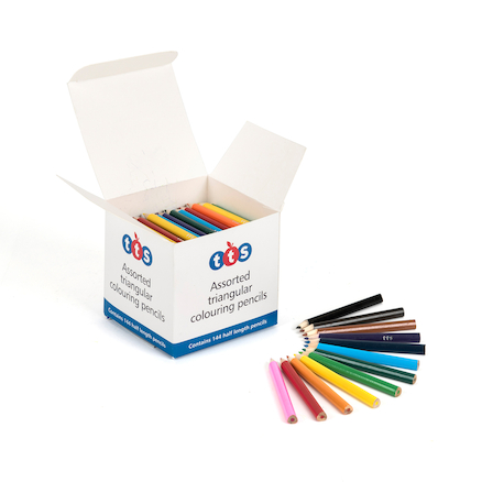 TTS Triangular Colouring Pencils 144pk  large