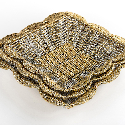 Metallic Nesting Baskets Sorting / Provocation 3pk  large