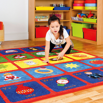 Alphabet Square Carpet L200 x W200cm  large