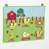 Chicken Fabric Life Cycle Wall Hanging  small