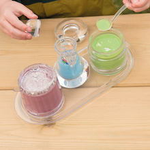 Clear Miniature Container Set 3pcs  medium