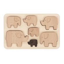 Elephant Wooden Sorting Puzzle  medium