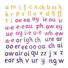 Re-usable Magnetic Phonics Pieces   medium