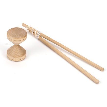 Hand Made Wooden Diabolo  large