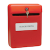Red Lockable Suggestion\/Post Box  small