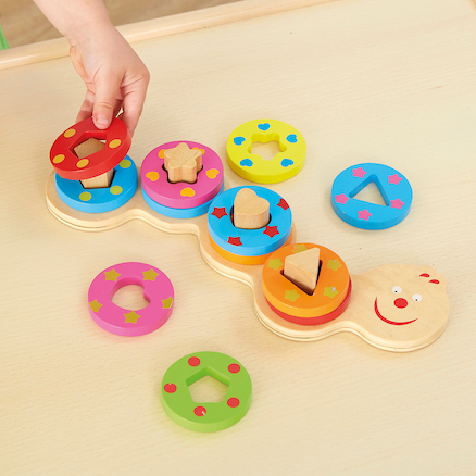 Wooden Shapes Stacking Caterpillar  large
