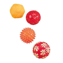 Baby Sensory Textured Rubber Balls 4pk  medium