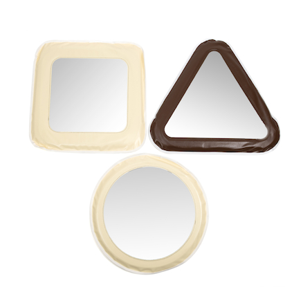 Soft Shapes Mirrors Set of 3  large