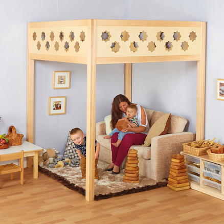 Lovely Learning Location Pillared Wooden Structure  large