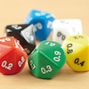 Plastic Polyhedral 10 Sided Dice 50pk  small