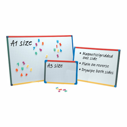 Drywipe Magnetic Whiteboard A3 Single  large