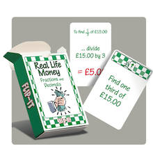 Flip-It Real Situation Money Fraction Cards  medium