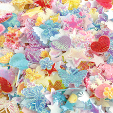 Iridescent Fabric Collage Shapes Assorted 2500pk  medium