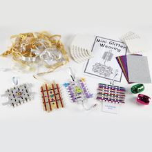 Mini Glitter Christmas Weaving Decorations 30pk  medium