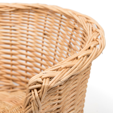 Wicker Cosy Basket L120 x W60 x H31cm Red  large
