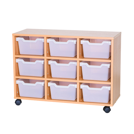 9 Cubby Tray Unit H650mm  large