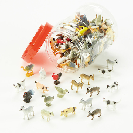 Small World Tub of Farm Animals 144pcs  large